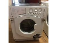 INDESIT BHWD129 INTEGRATOR WASHER & DRYER MONTH WARRANTY, FREE INSTALLATION