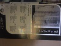 Aqualux steel & glass bi fold door square shower enclosure 900x900. Brand new still in box