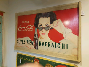 Coke Coca Cola Vintage Sign Advertising Lady