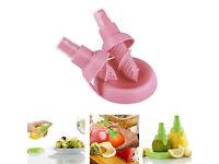 2x Lemon Juice Sprayer Citrus Spray Fruit Juicer Squeezer Lime Kitchen Pink NS