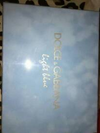 Dolce and gabbana perfume box with cream and gel