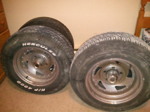 Muscle car tires and rims