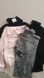 Brand new 4 piece turtle neck shirts lot