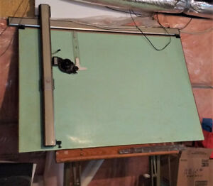 Isis Drafing Table with Mutoh Model L Drafting Machine