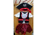 Girl pirate costume 5-6 year