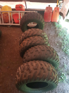 Set of 4 tires. Dunlop... stock tires off a brute force!!