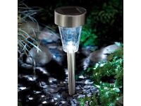 Set of 4 Cole and Bright solar stake lights