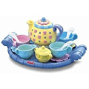 Fisher Price Musical Tea Party Set Teapot Pastels Playset MINT