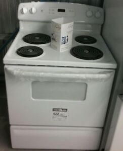 NOS CUISINIERES NEUVES BLANCHES/STAINLESS/CONVECTION/AUTO NETT.