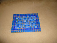 Blue ceramic rectangular pot stand