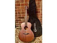 Crafter acoustic guitar. Lite cast series. Mahogany