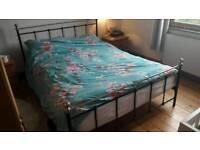 FREE king size bed frame black metal
