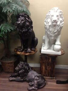 Lion statues home and garden animal sculpture