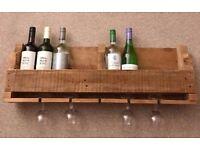 Handmade Rustic Pallet Wood Wine Rack