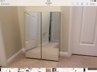 Stainless steel mirrored bathroom cabinet