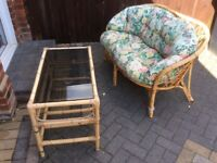 Bamboo 2 peace of furniture in excellent condition