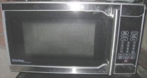 Slightly used Small Danby 0.7 cu.ft. Stainless Steel Microwave