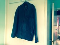 Black leather casual jacket size 2XXL