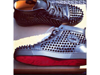 Men's high top louboutin trainers size 10