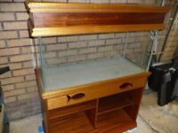 3 ft fish tank complete with cabinet.