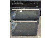 BLACK BEKO MIRROR EFFECT 60cm NEW MODEL ELECTRIC COOKER,