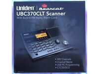 Uniden UBC370CLT Scanner with Built-In FM Radio, Alarm Clock