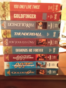 James BOND VHS movie collection - 9 in total