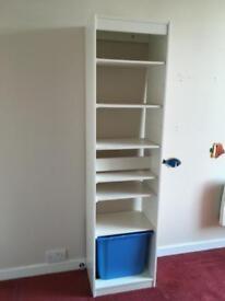 Ex IKEA white storage unit