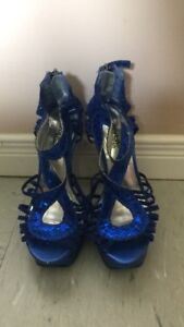 Blue occasion shoes