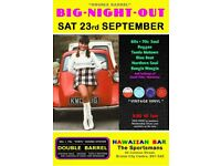 SATURDAY 23rd SEPTEMBER- 60s 70s SOUL / REGGAE / MOTOWN - DOUBLE BARREL - City Centre.