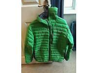 Men's rab microlight alpine down jacket size XL green/ grey