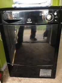 8kg indersit condenser dryer black