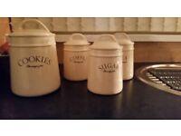 Set of ceramic storage jars