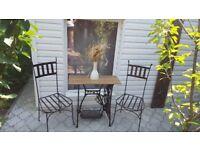 Handmade vintage style metal chairs