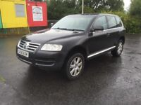 BARGAIN 2006 56 VW TOUAREG 3.0 LITRE DIESEL FULL SERVICE HISTORY 1 OWNER PX WELCOME £2295