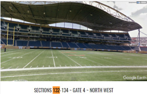 Winnipeg Blue Bombers vs. Montreal July 27 - Sec 132 Row 2