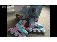 Girls Inline Frozen Skates 11.5-1