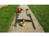 Shindaiwa Japanese quality multi tool with hedge cutter & strimmer attachments expensive new
