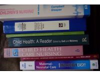 Selection of Nursing and related subjects textbooks £1 each