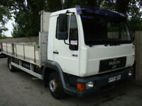 1997 P MAN/ ERF 8.163 7.5 TONN RECOVERY TRUCK SIDES CANOPY RAMPS WINCH P/X