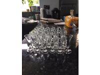 26 sherry glasses