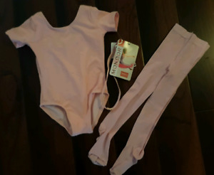 Dance/ballet Body suit and tights size 2-4