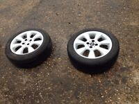 mini one alloy wheels and tyres 16 inch
