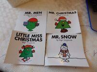 mr christmas, mr men 12 days of christmas, little miss christmas and mr snow mr men books