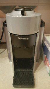 Nespresso machine with coffee