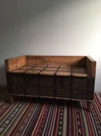 Wooden Rajasthani Trunk Table - Indian Chest