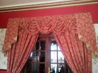 LARGE BESPOKE CURTAINS , SWAGS & TAILS