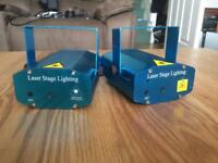 2 Laser lights (2 different patterns) in Great condition