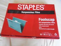 Staples Foolscap Suspension Files x 37
