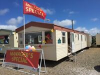 8 Berth static caravan with double glazing & central heating for sale in Norfolk, not Lincolnshire.